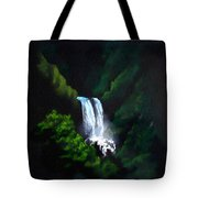 Silver Waterfall Tote Bag