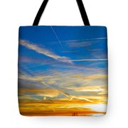 Silver Wing Sunset Tote Bag