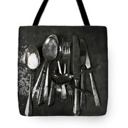 Silverware With Salt Tote Bag