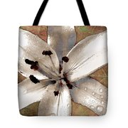 Silvery Asiatic Lily Tote Bag