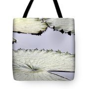 Silvery Sage Green Lily Pads Tote Bag