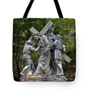 Simon Helps Jesus Tote Bag