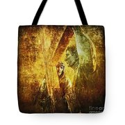 Simon Helps Jesus Via Dolorosa 5 Tote Bag by Lianne Schneider
