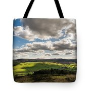 Simonside Hills From Rothbury Terraces Tote Bag