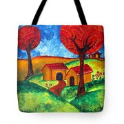Simple Dreams Acrylic Painting Tote Bag