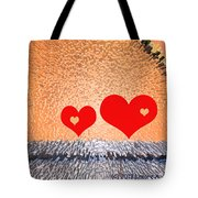 Simple Geometry 2 - See-through Hearts Tote Bag