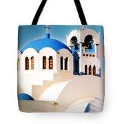 Simple Graphic Greek Church Tote Bag