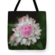 Simple White Straw Flower Tote Bag