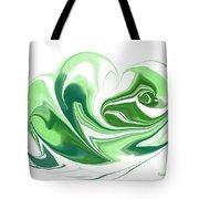 Simplicity In Green Tote Bag