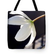 Simply Alone Flower Tote Bag