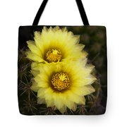 Simply Golden Cactus Flowers  Tote Bag