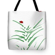 Simply Ladybugs And Grass Tote Bag