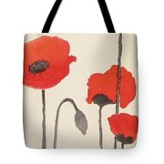Simply Poppies 2. Tote Bag