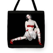 Simply Red - Self Portrait Tote Bag