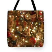 Simply Santa Tote Bag by Laurie Lundquist