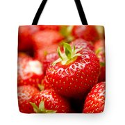 Simply Strawberries Tote Bag by Anne Gilbert