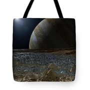 Simulated View From Europas Surface Tote Bag