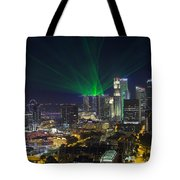 Singapore Central Business District Skyline Tote Bag