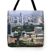 Singapore City Aerial View Tote Bag