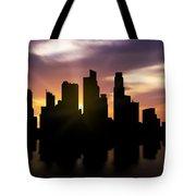 Singapore City Sunset Skyline  Tote Bag