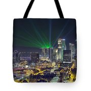 Singapore Cityscape At Night Tote Bag