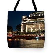 Singapore Fullerton Hotel At Night 02 Tote Bag