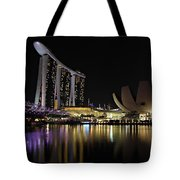 Helix Bridge To Marina Bay Sands Tote Bag