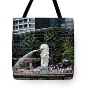 Singapore Merlion Park Tote Bag