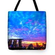 Singapore Skyline Tote Bag