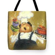 Singing Chef In Gold Tote Bag