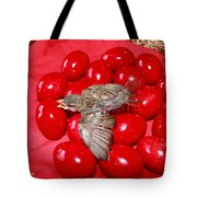 Singing Over Red Eggs Tote Bag