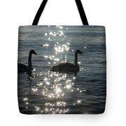 Singing Trumpeter Swans Duet  Tote Bag