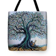 Singing Under The Blues Tree Tote Bag