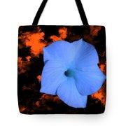 Single Blue Cactus Flower Tote Bag