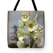 Single Buttercream Hollyhock Tote Bag