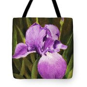Single Iris Tote Bag