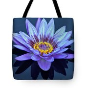 Single Lavender Water Lily Tote Bag