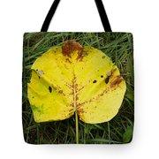 Single Leaf Tote Bag