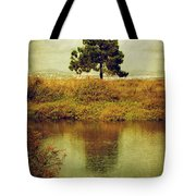 Single Pine Tree Tote Bag by Carlos Caetano