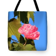 Single Pink Flower Tote Bag
