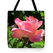 Single Pink Rose Tote Bag