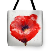 Single Red Anemone Tote Bag