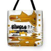 Single Shark Pop Art Tote Bag by Pepita Selles
