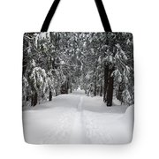 Single Track Cross Country Skiing Trail Yosemite National Park Tote Bag
