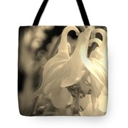 Single White Columbine Monochrome Tote Bag
