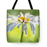 Single White Daisy Blossom Tote Bag by Sharon Freeman