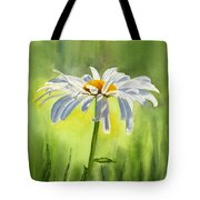Single White Daisy  Tote Bag by Sharon Freeman