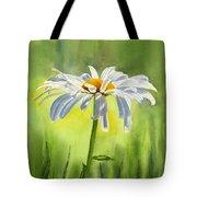 Single White Daisy  Tote Bag