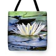 Single White Lotus Tote Bag