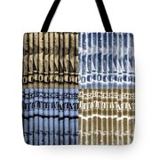 Singles In Gold And Blue Tote Bag